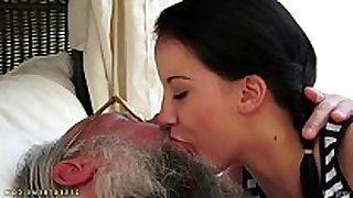Old youthful giving a kiss compilation