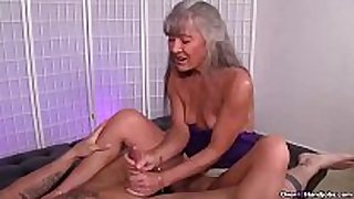Ov40-mature whore jerking a juvenile stud