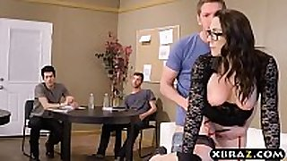 Professor team-fucked and double stuffed by her ...