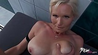 Povbitch breasty milf cleaning sexually sexually lustful white chicks was bad & pun...