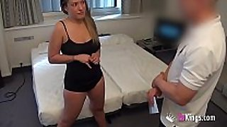 Girl with great love muffins copulates a sexually sexually excited room service...