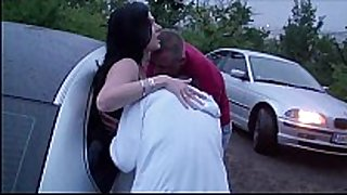 Extreme public dogging foursome with a pregnant...