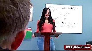 Sexy breasty schoolgirl and teacher screwed at sch...