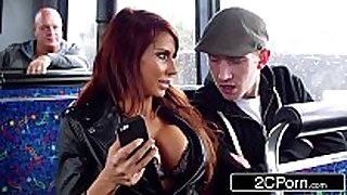 Steamy ffm threesome on a tour bus in london - ...