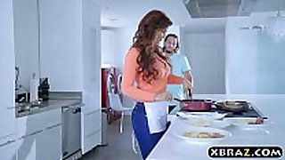 Stepmom group sex and dp screwed by 3 youthful chaps