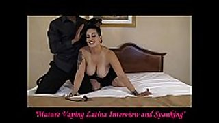 Mature vaping latin sweetheart interview and flogging