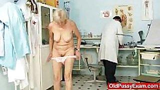 Elder grandma brigita being love tunnel inspected