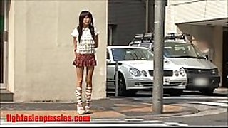 two dudes rip apart this petite japanese bitch and cu...