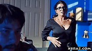 Milf teacher shows a porn video scene scene scene in class and fu...