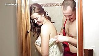 Crazy fucking with plumber previous to wedding