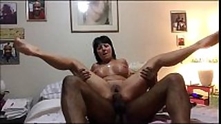 Granny amateur takes a dark ding-dong - anal sex