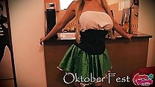 Busty candy celebrating oktober fest! breasty large...