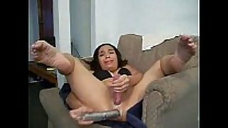Two dildos make her cum! don't know her name
