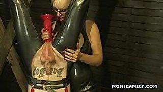 Kinky norwegian monicamilf is pegging the impure...