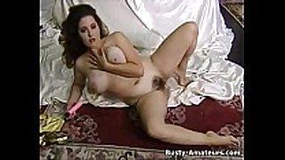 Hot milf jonee masturbates her bushy love tunnel