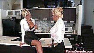 Puma swede & bobbi eden are the lesbo office ...