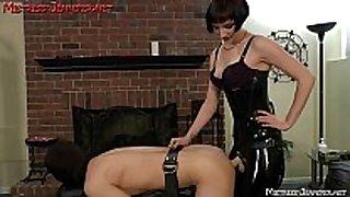 Mistress vera makes serf twist to femdom cruelty