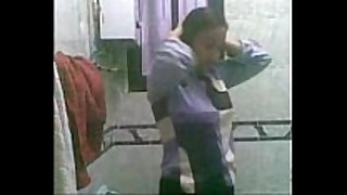 Egyptian hot babes show her body in washroom