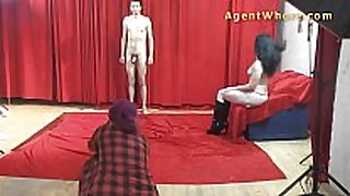 19yo casting man acquires wild striptease from nast...