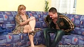 Granny claims a every day cum load will slow her ag...