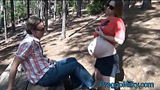 Pregnant preggo anal fucking in the forest
