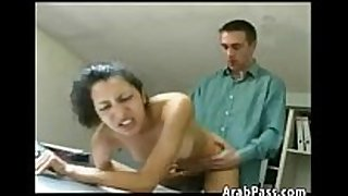 Fucking an arabic non-professional black cock sluts in the office