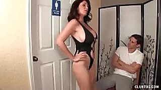 Angry step-mom jerking the juvenile guy