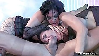 Two hawt harlots gets to have a fun large dong ass fuc...