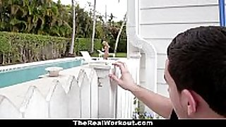 Therealworkout - sexually sexually lustful black ding-dong bitches copulates the pool...