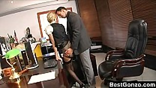Naughty secretary sexually concupiscent at work