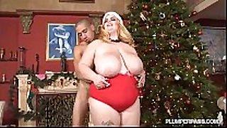 Lovely breasty bbw sashaa juggs bonks bf below xm...