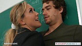 Blonde teacher brandi love riding jock in class...