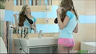 Super sexy legal age teenager dominant-bitch gets drilled in the washroom
