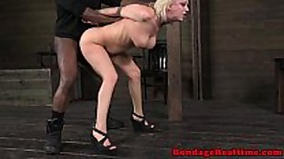 Bondage fetish sub cherry torn pounded