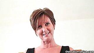 Classy grandma enjoyment acquires fingered and masturbate...