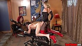 Ass fucking torture femdom ding-dong pegging p...