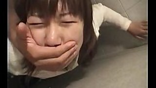 Jap teeny grabbed and nailed hard in her wet crack i...