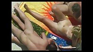 Sexy in nature's garb beach joy!