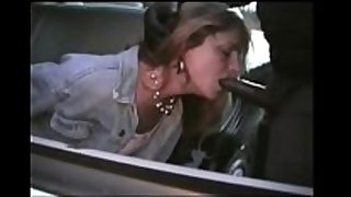 White woman sucks black cops dong