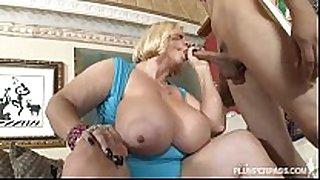 Two sexy busty bbw milfs fuck hawt chap