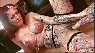 Busty redhead mai bailey gets her immodest cleft fisted ...
