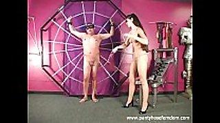 Pantyhose amazon punishes male serf