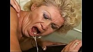 Sex-proof granny - effie kitchen - hirsute