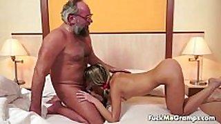 Lucky old bastard bangs enchanting sexually sexually lewd white sexually sexually lascivious white BBC floozy