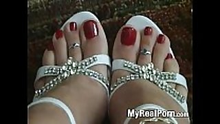 Foot feet hot legs shoes red nail polish