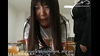 Cute japanese legal age teenager spanked by her teacher