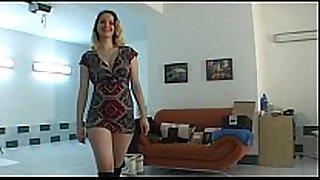 Amateur czech babe lapdances in dark boots