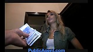 Publicagent sophia copulates me for cash
