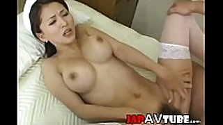 Busty japanese nurse acquires ball batter fountain