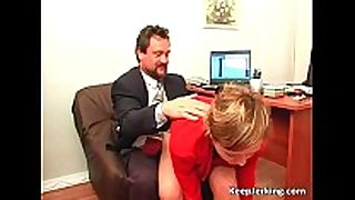 Boss nails sexually concupiscent secretary in office